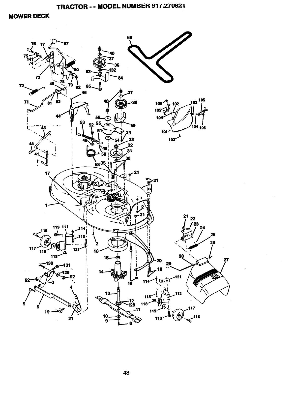 Craftsman 917270821 User Manual 19.5 HP ELECTRIC START
