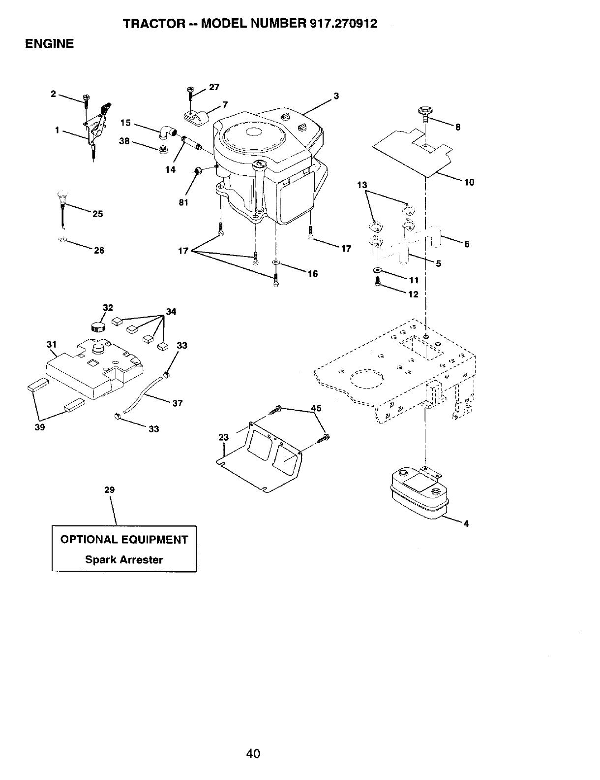 Craftsman 917270912 User Manual 19.5HP 42 LAWN TRACTOR