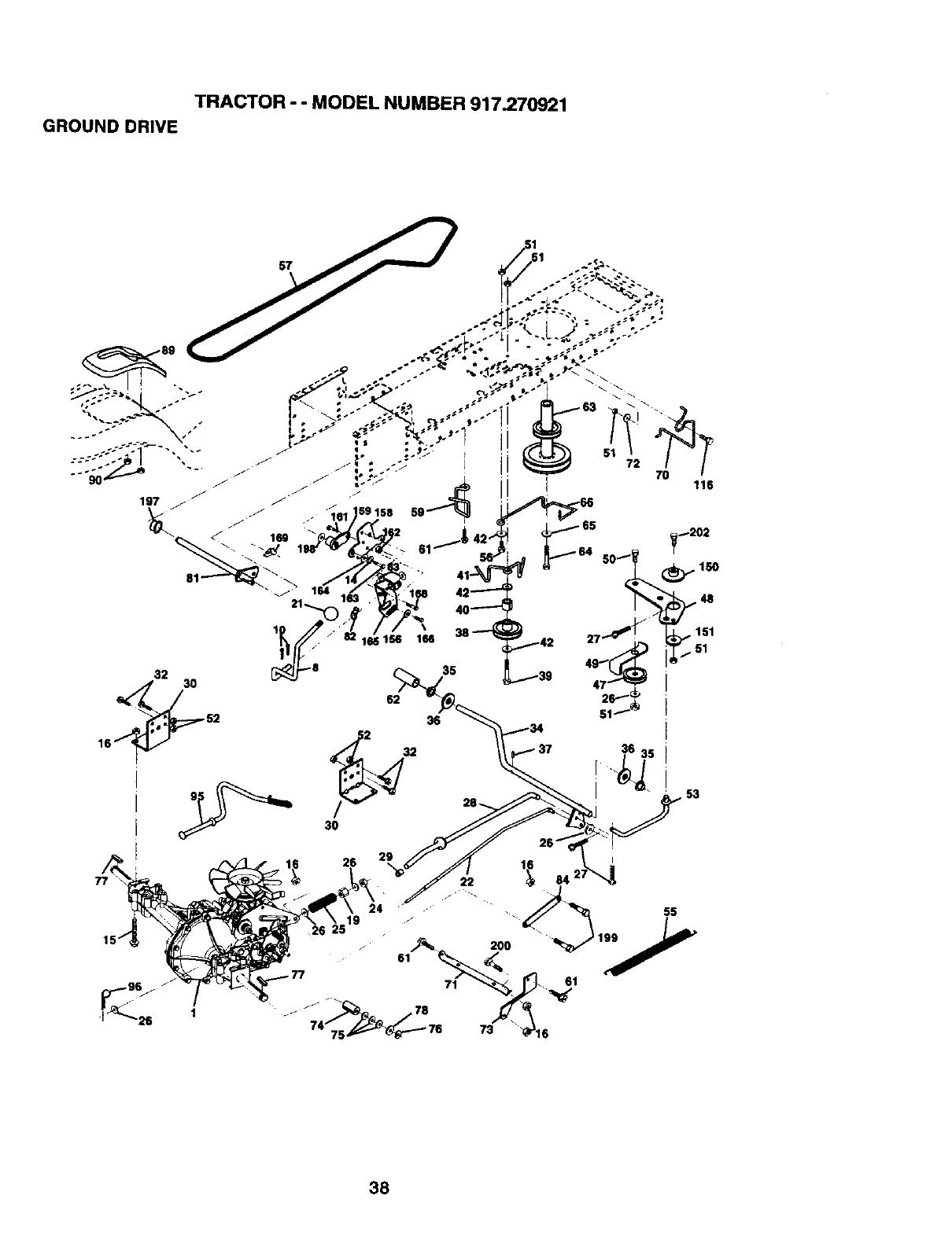 Craftsman 917270921 User Manual 19.5HP AUTOMATIC LAWN