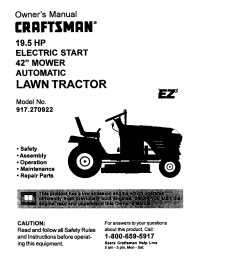 wiring diagram for a craftsman riding mower 19 5 hp 42 inch cut craftsman 917270922 user [ 1256 x 1608 Pixel ]