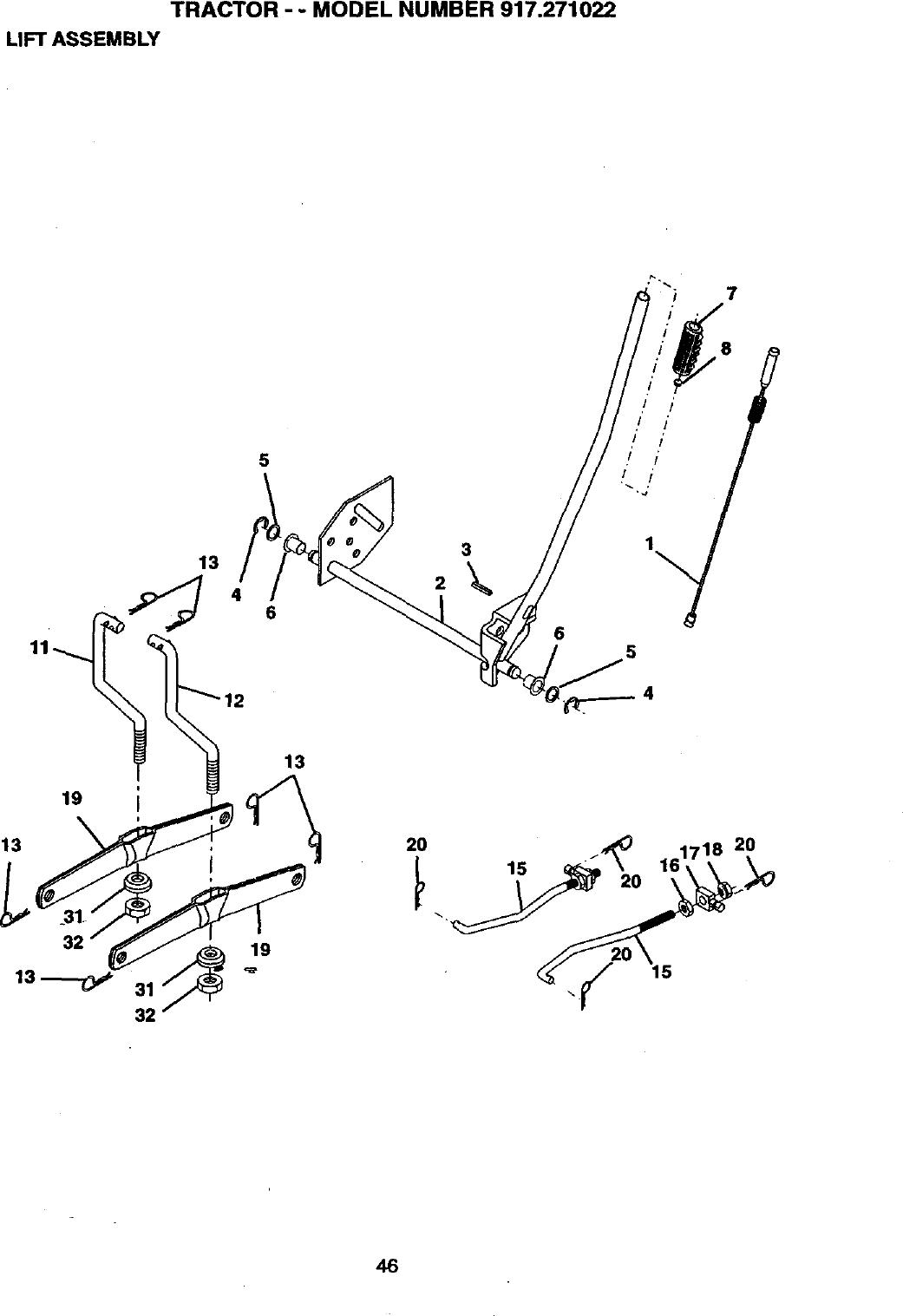 917 271022 Craftsman Mower Wiring Diagram. . Wiring Diagram