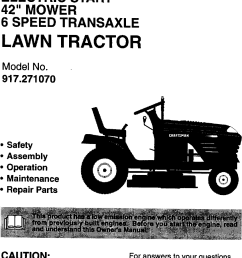 craftsman 917271070 user manual lawn tractor manuals and guides 99030708 electrical wiring schematics schematic wiring diagram for 917271070 [ 845 x 1596 Pixel ]
