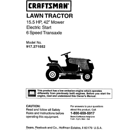craftsman lawn tractor diagram [ 1220 x 1584 Pixel ]