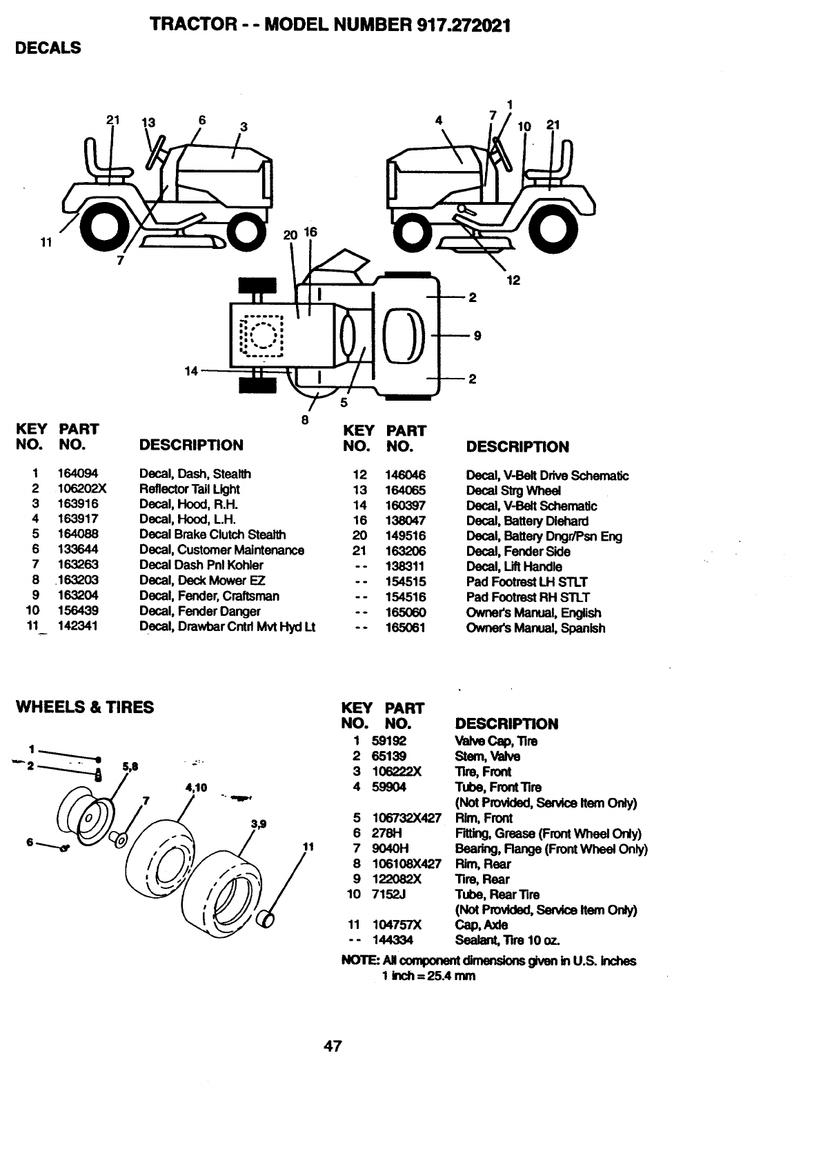 Craftsman 917272021 User Manual LAWN TRACTOR Manuals And