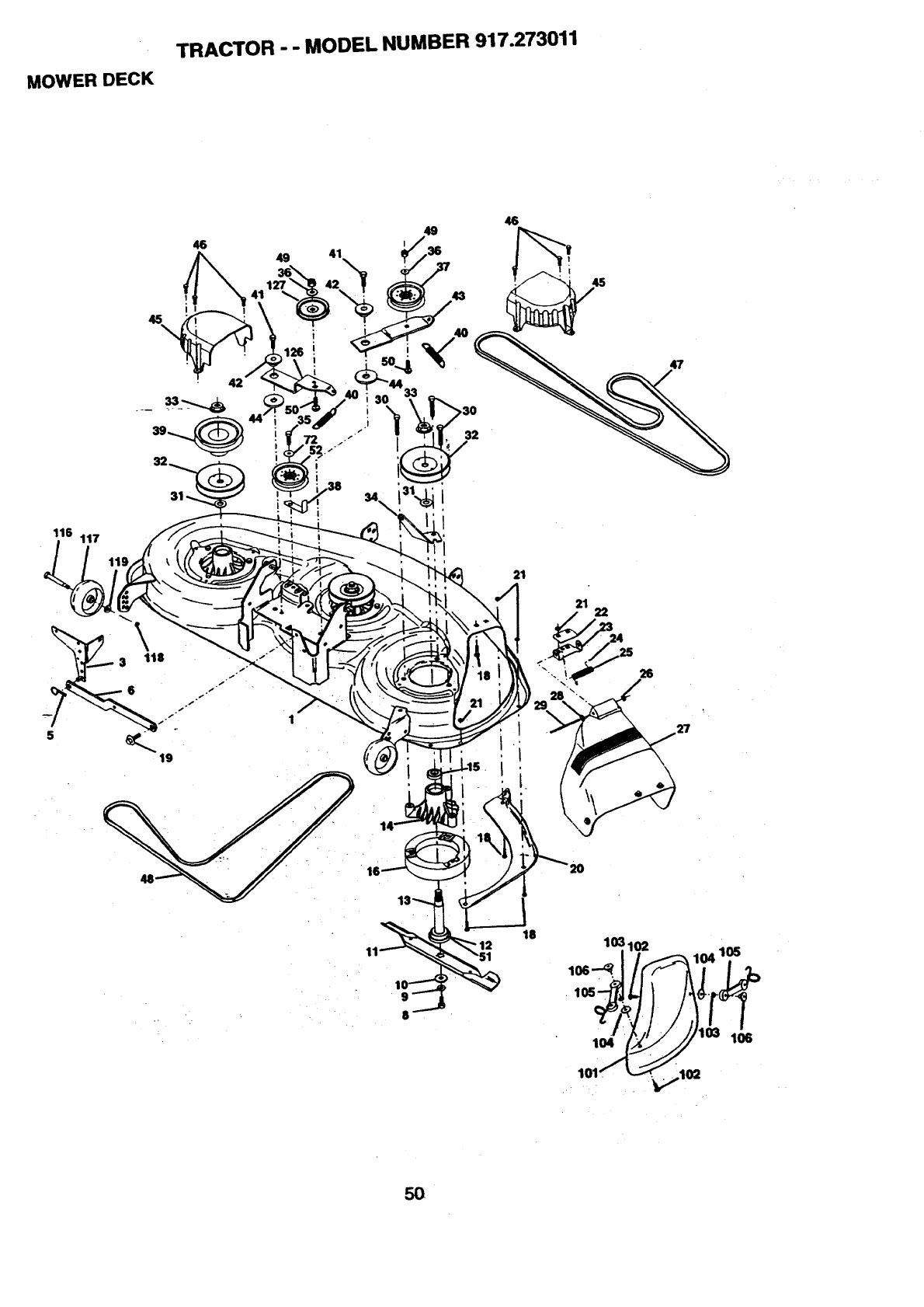 Craftsman 917273011 User Manual 20 HP ELECTRIC START 6