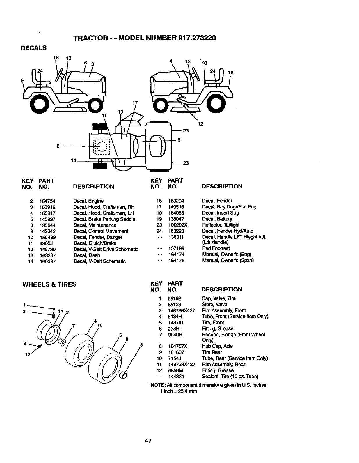 Craftsman 917273220 User Manual TRACTOR Manuals And Guides