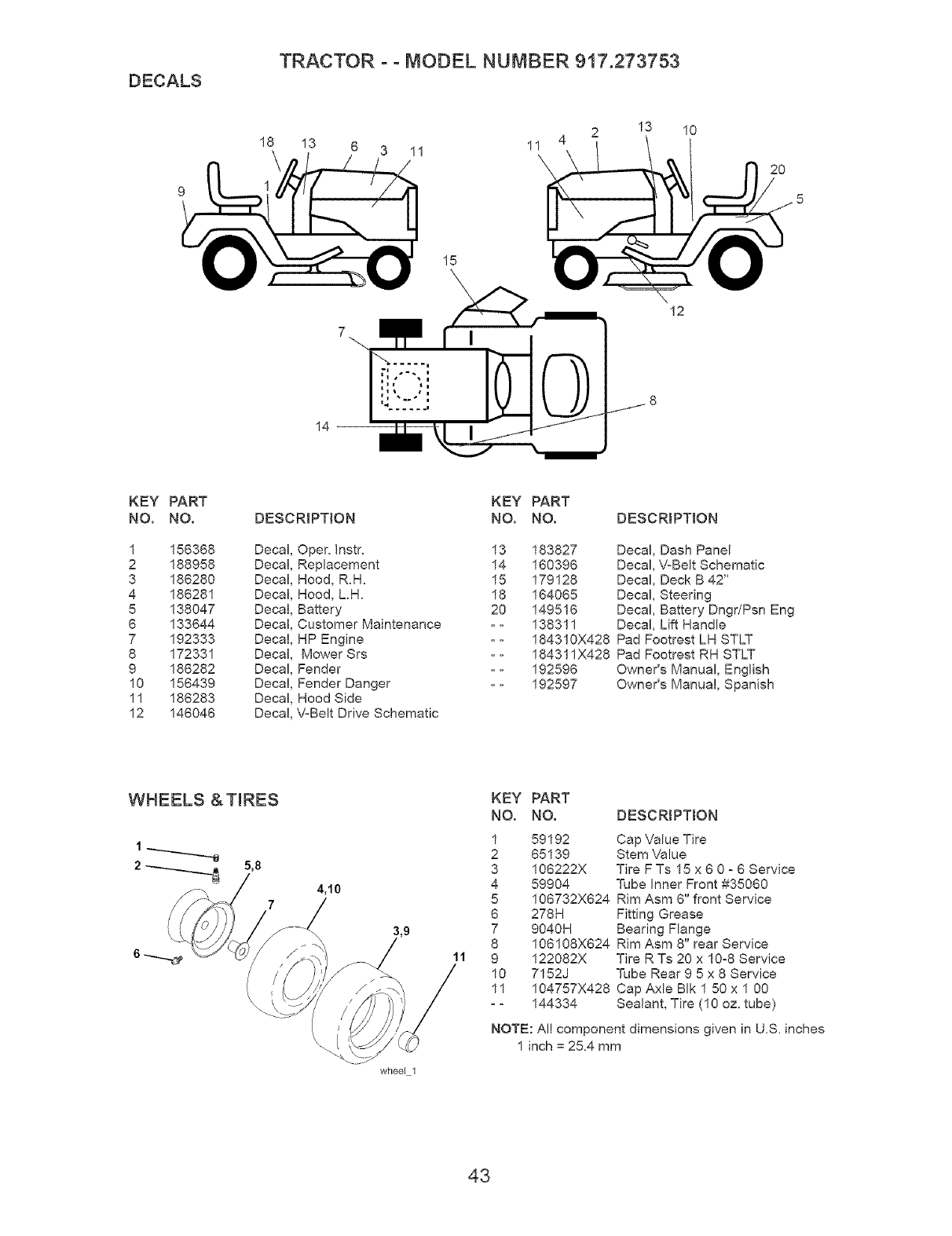 Craftsman 917273753 User Manual LAWN TRACTOR Manuals And
