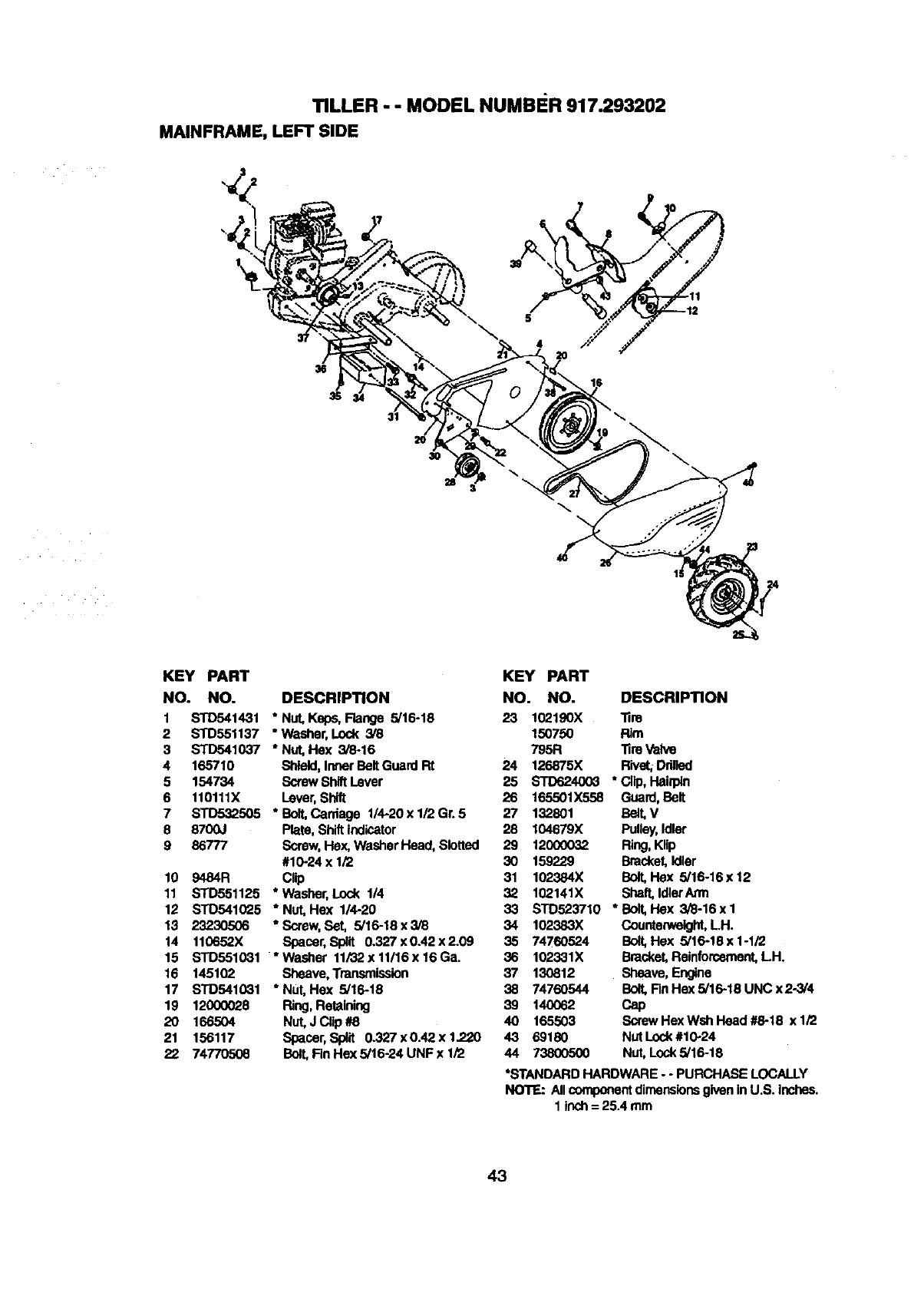 Craftsman 917293202 User Manual TILLER Manuals And Guides