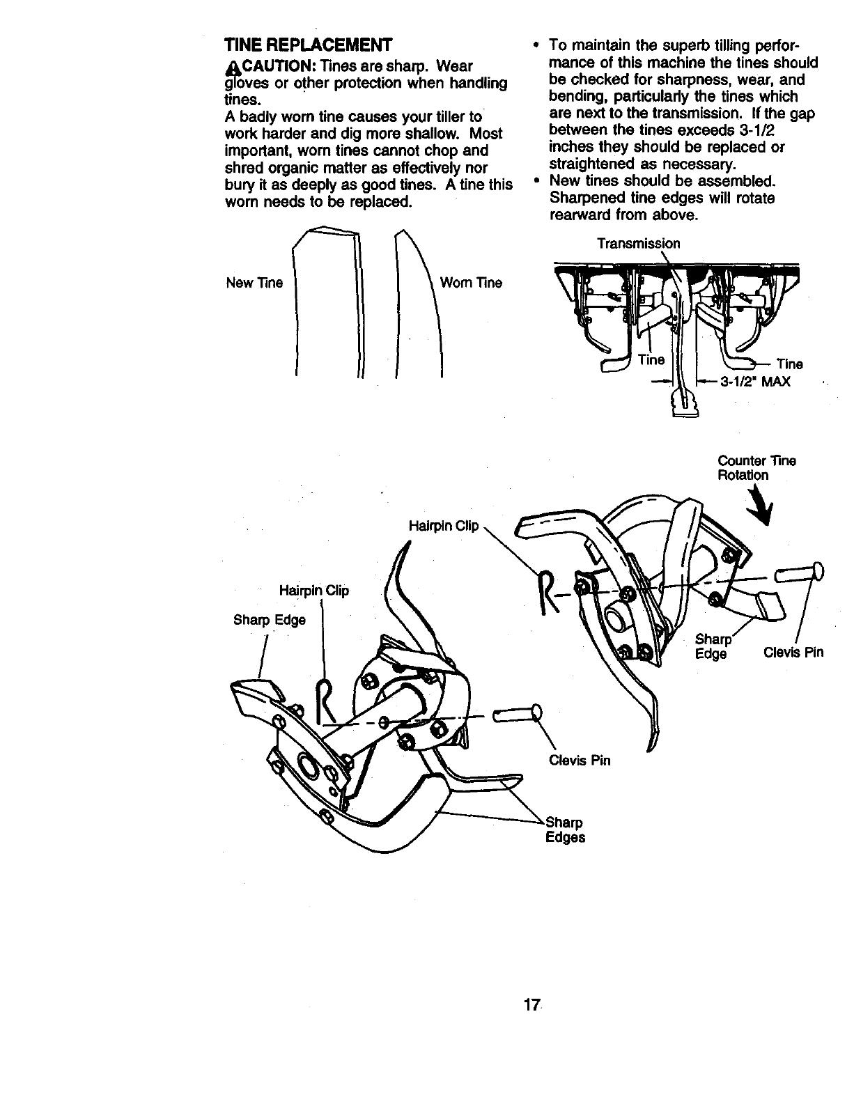 Craftsman 917293340 User Manual 9.0HP REAR TINE TILLER