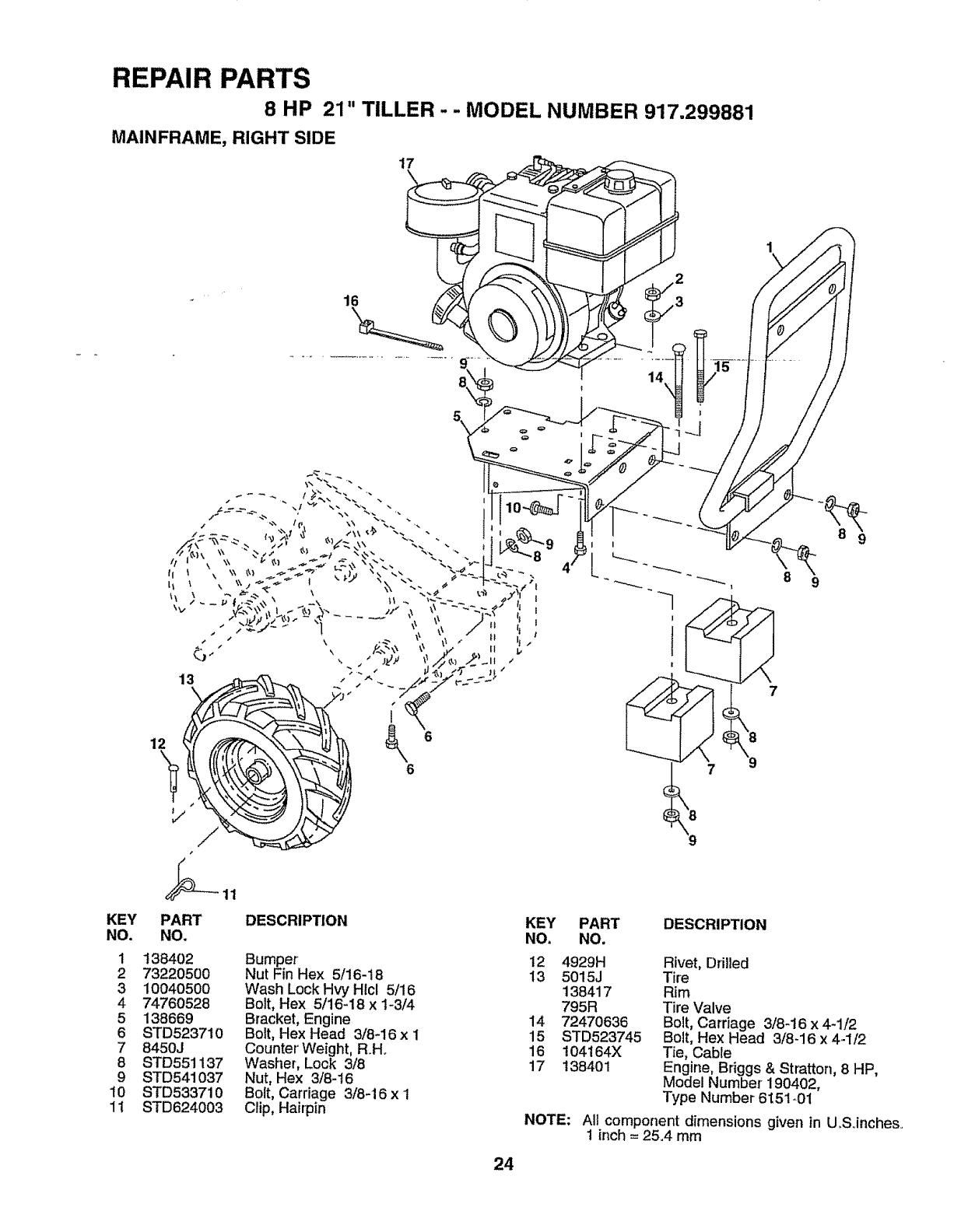Craftsman 917299881 User Manual TILLER Manuals And Guides