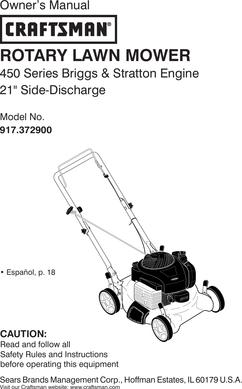 Craftsman 917372900 372900 es 589801201_r0 User Manual