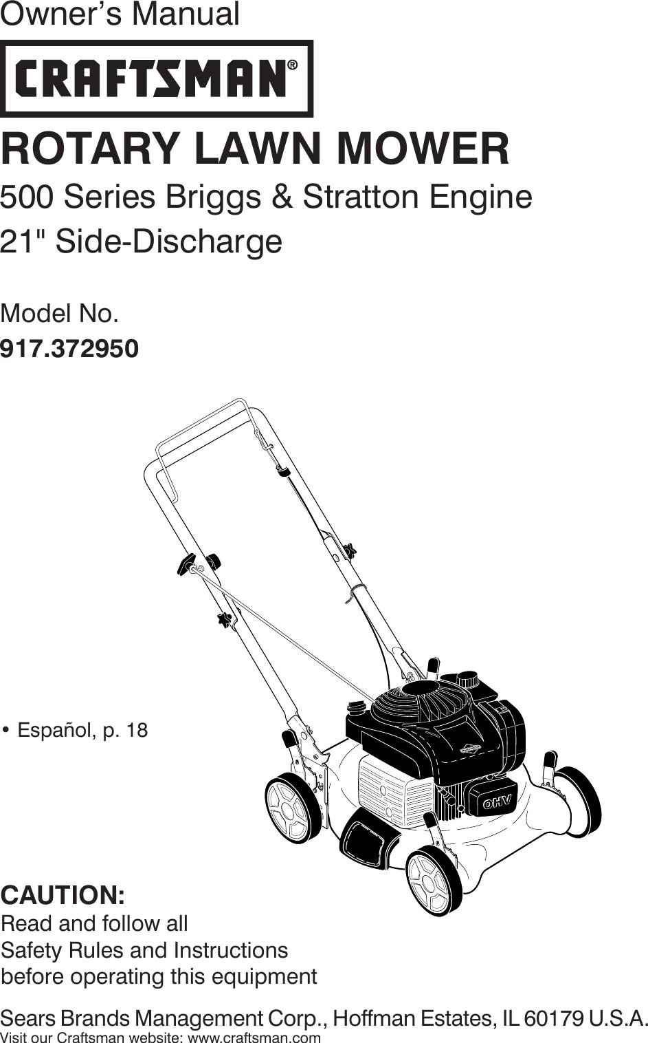 Craftsman 917372950 372950 es 590015501_r0 User Manual