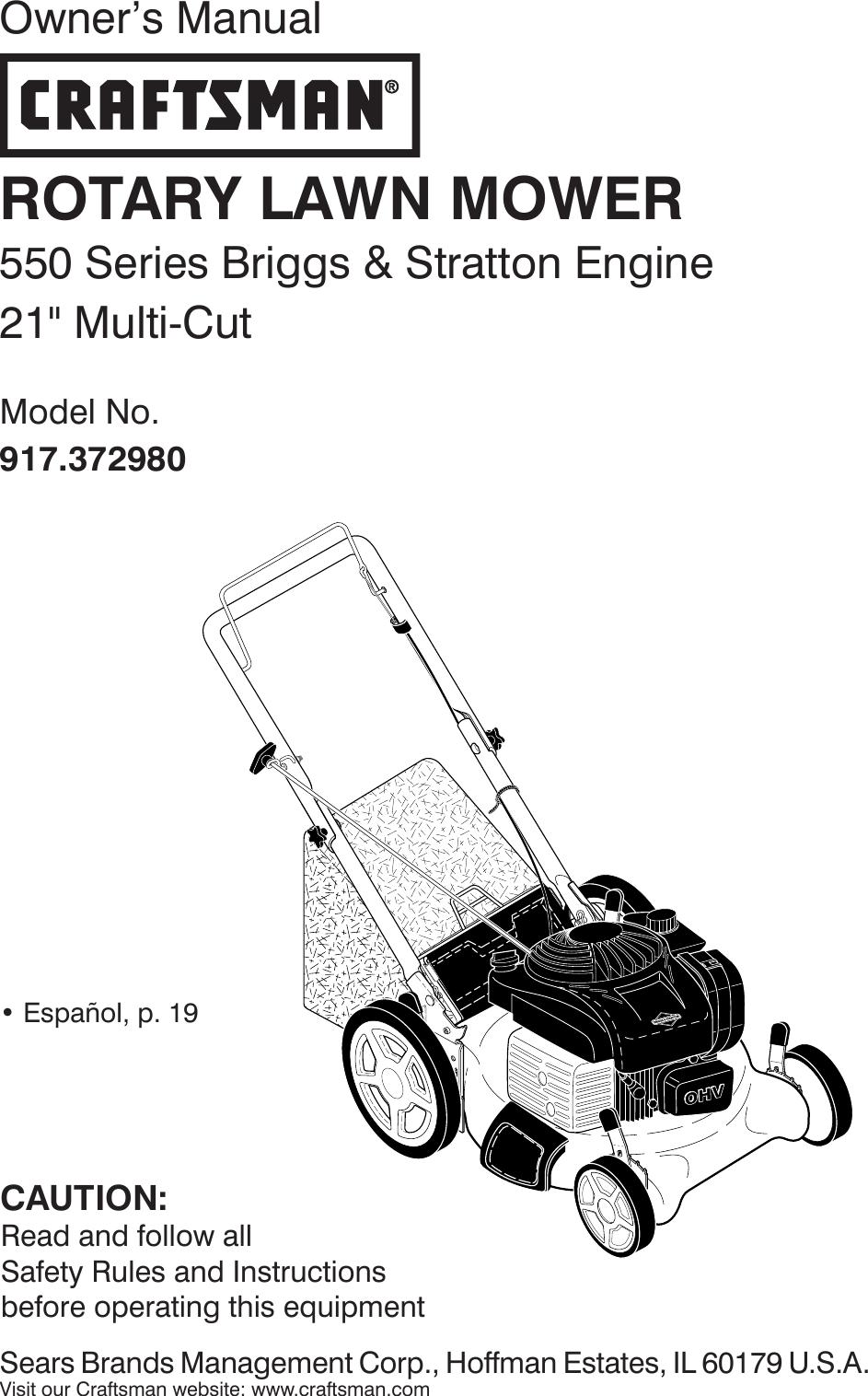 Craftsman 917372980 372980 es 115870396_r0 User Manual