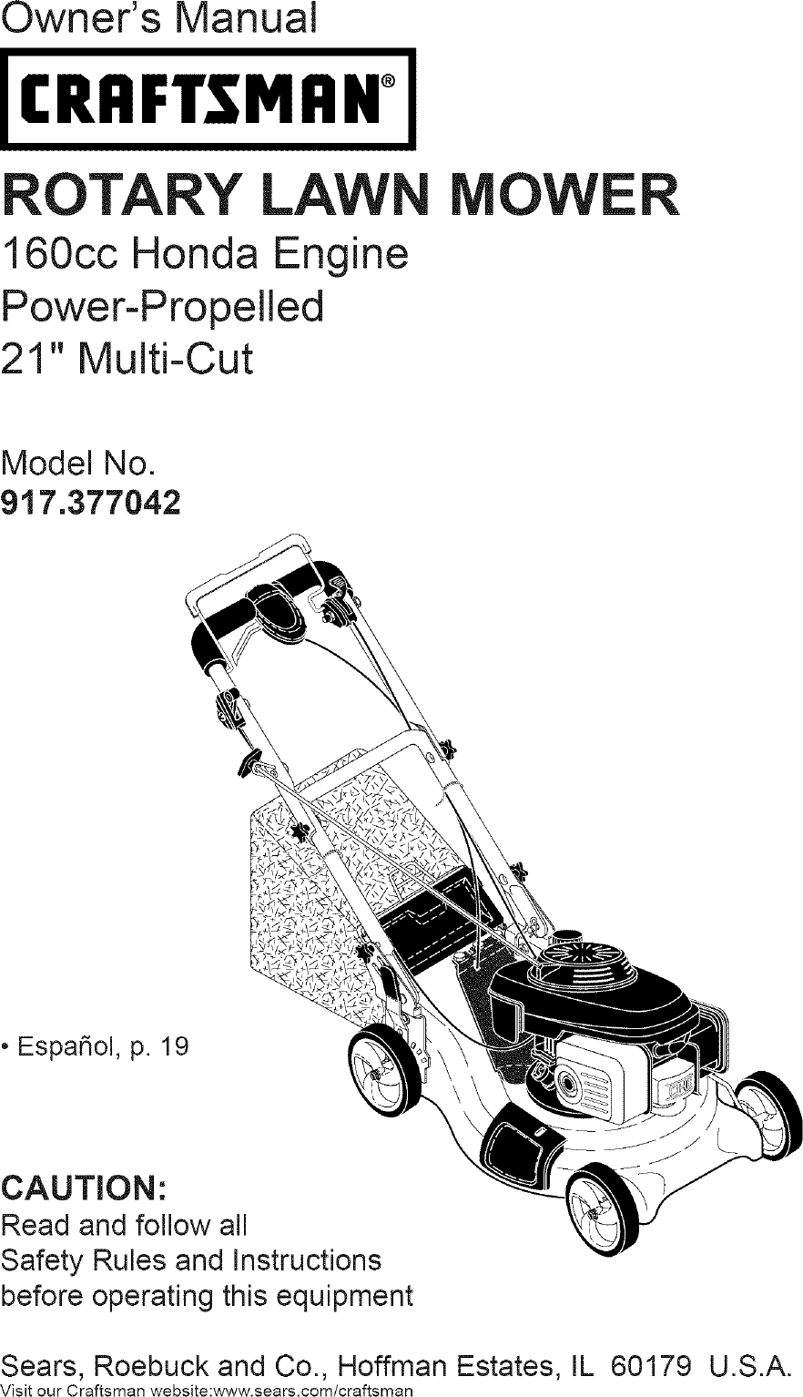 Craftsman 917377042 User Manual MOWER Manuals And Guides