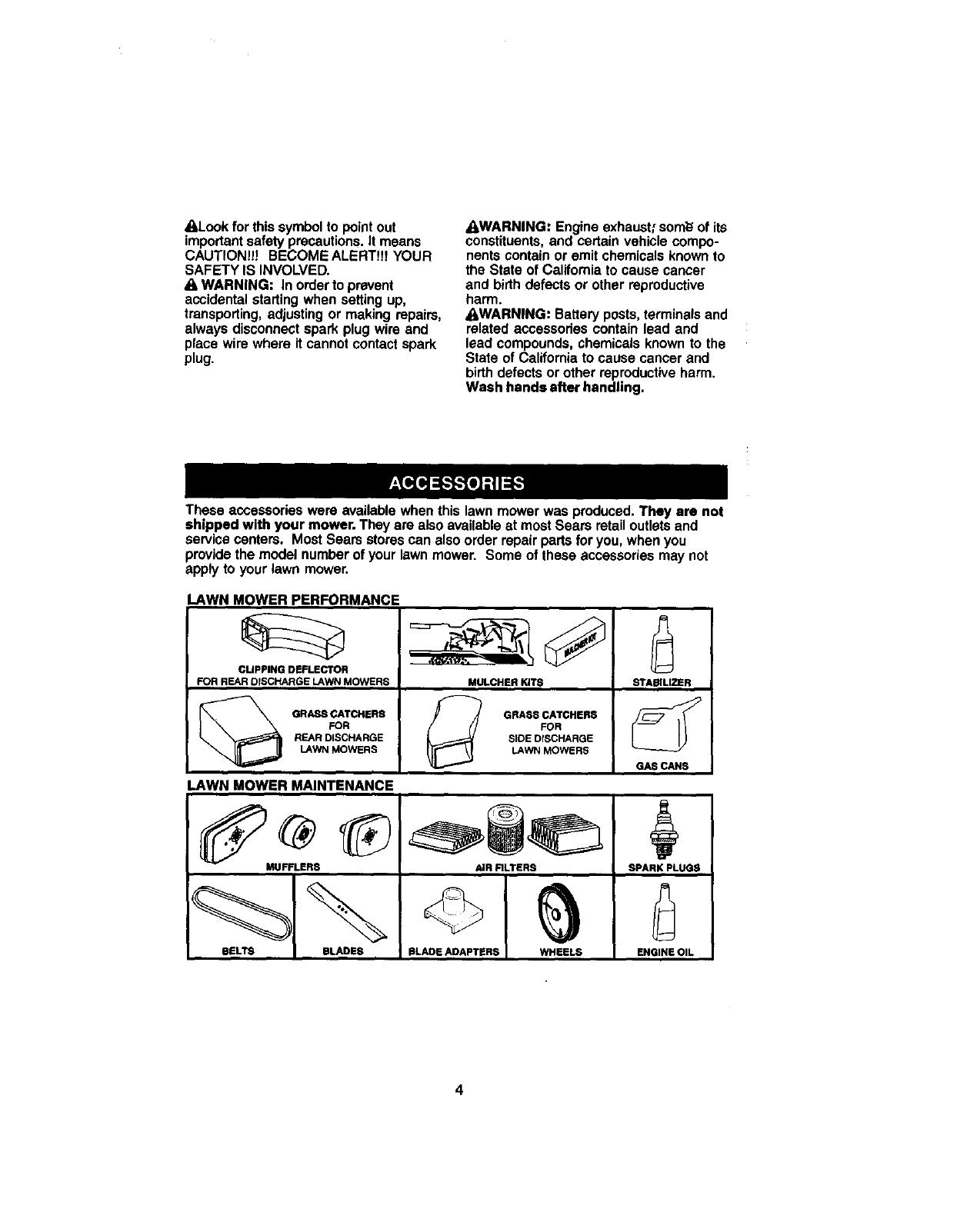 Craftsman User Manual Rotary Mower Manuals And
