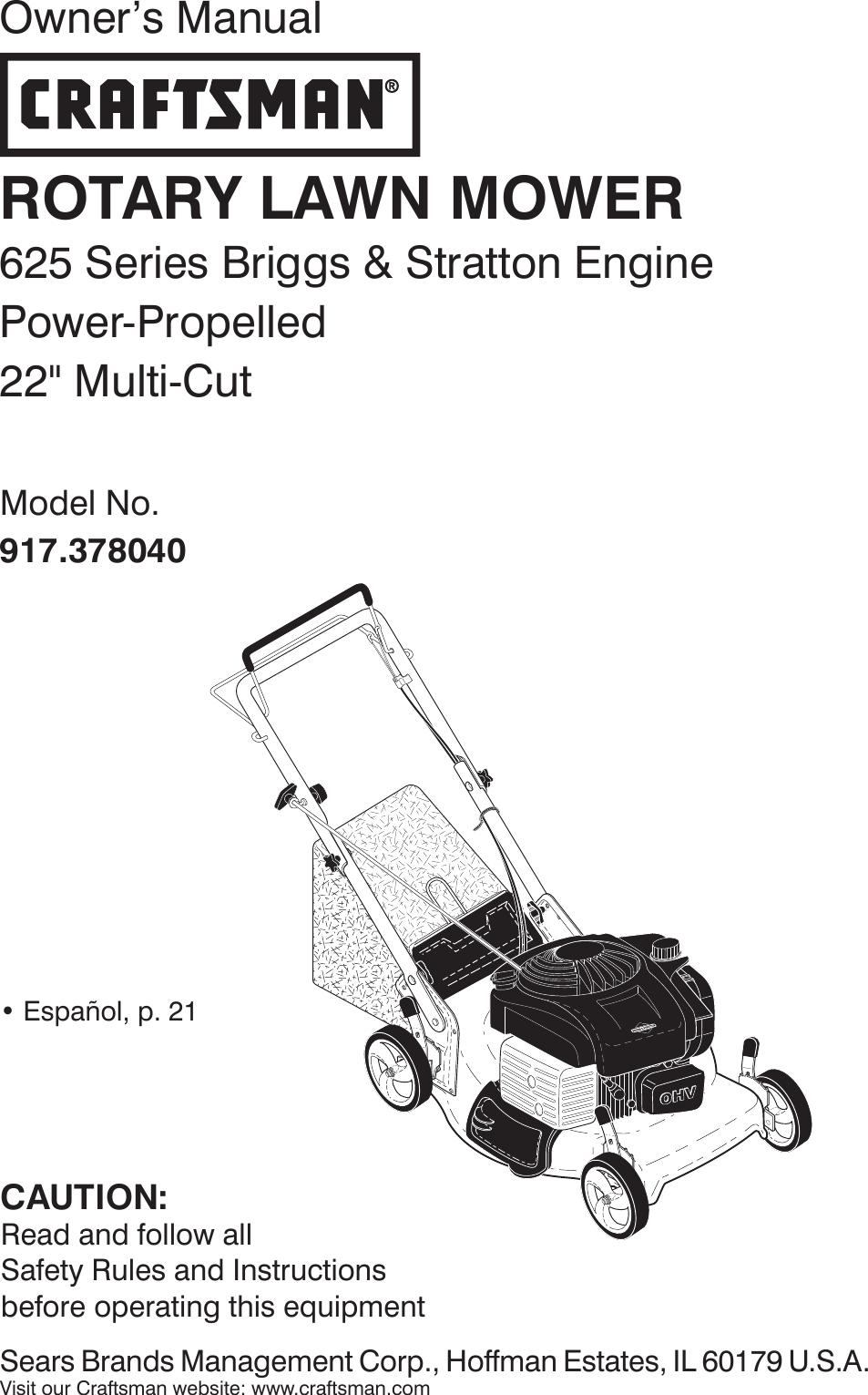 Craftsman 917378040 378040 es 590056401_r0 User Manual