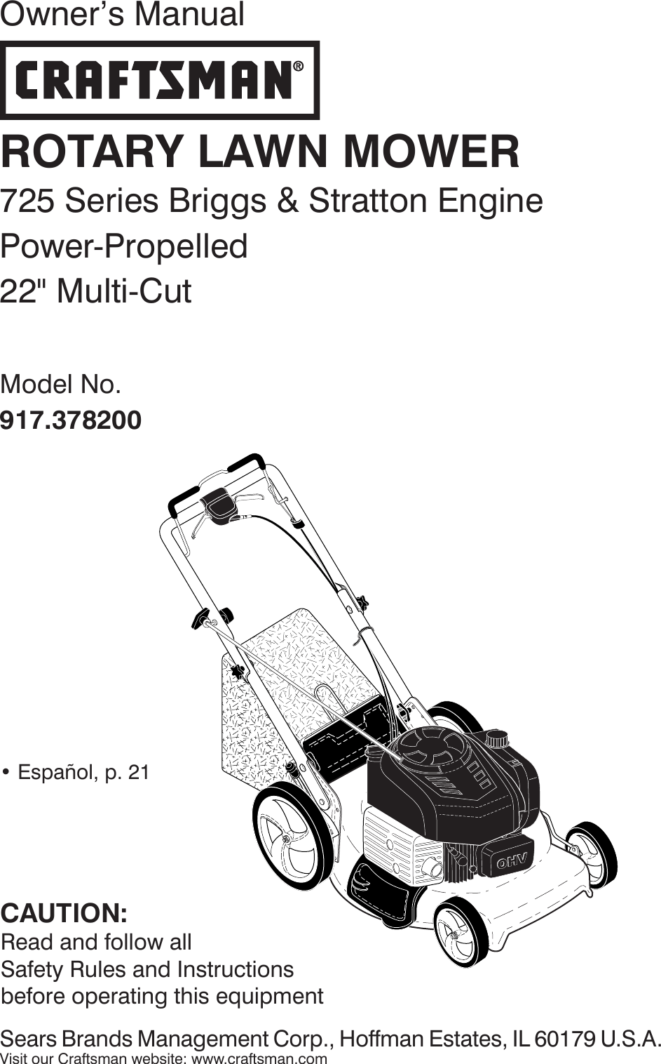 Craftsman 917378200 378200 es 589804003_r1 User Manual
