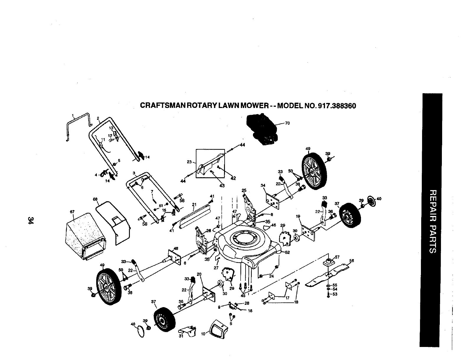 Craftsman 917388360 User Manual 6.25HP 21 ROTARY LAWN