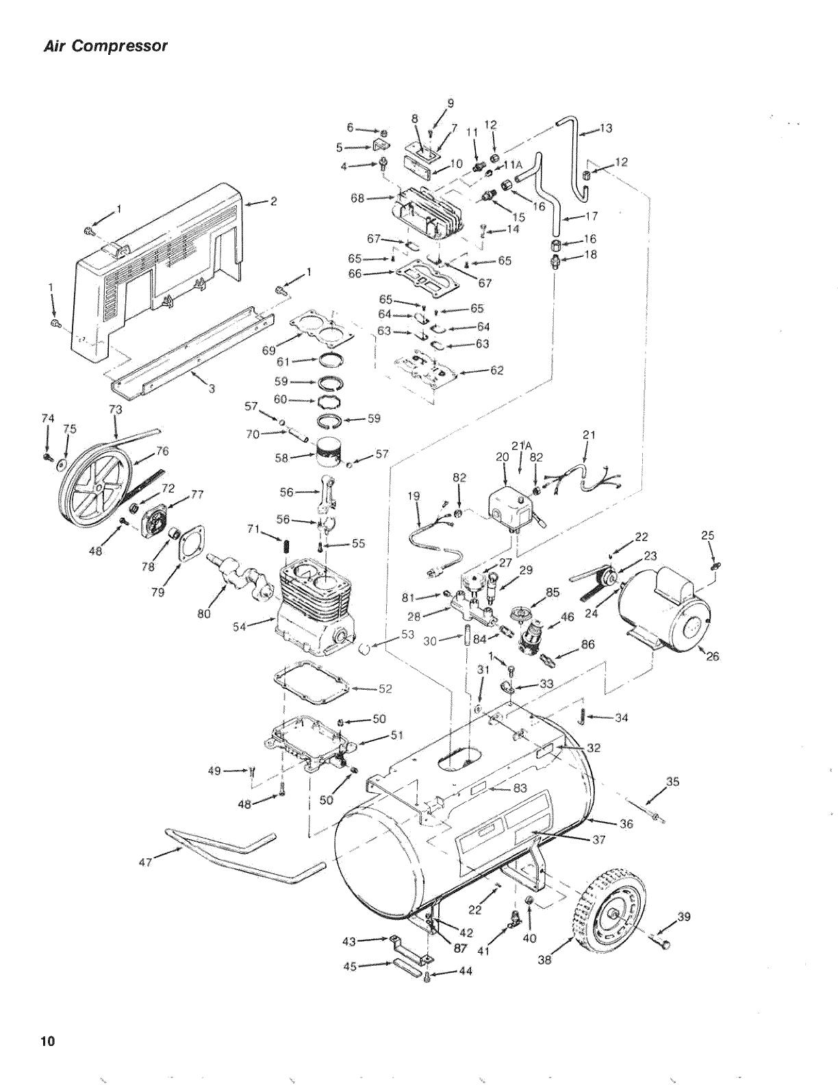 Craftsman 919174212 User Manual AIR COMPRESSOR Manuals And