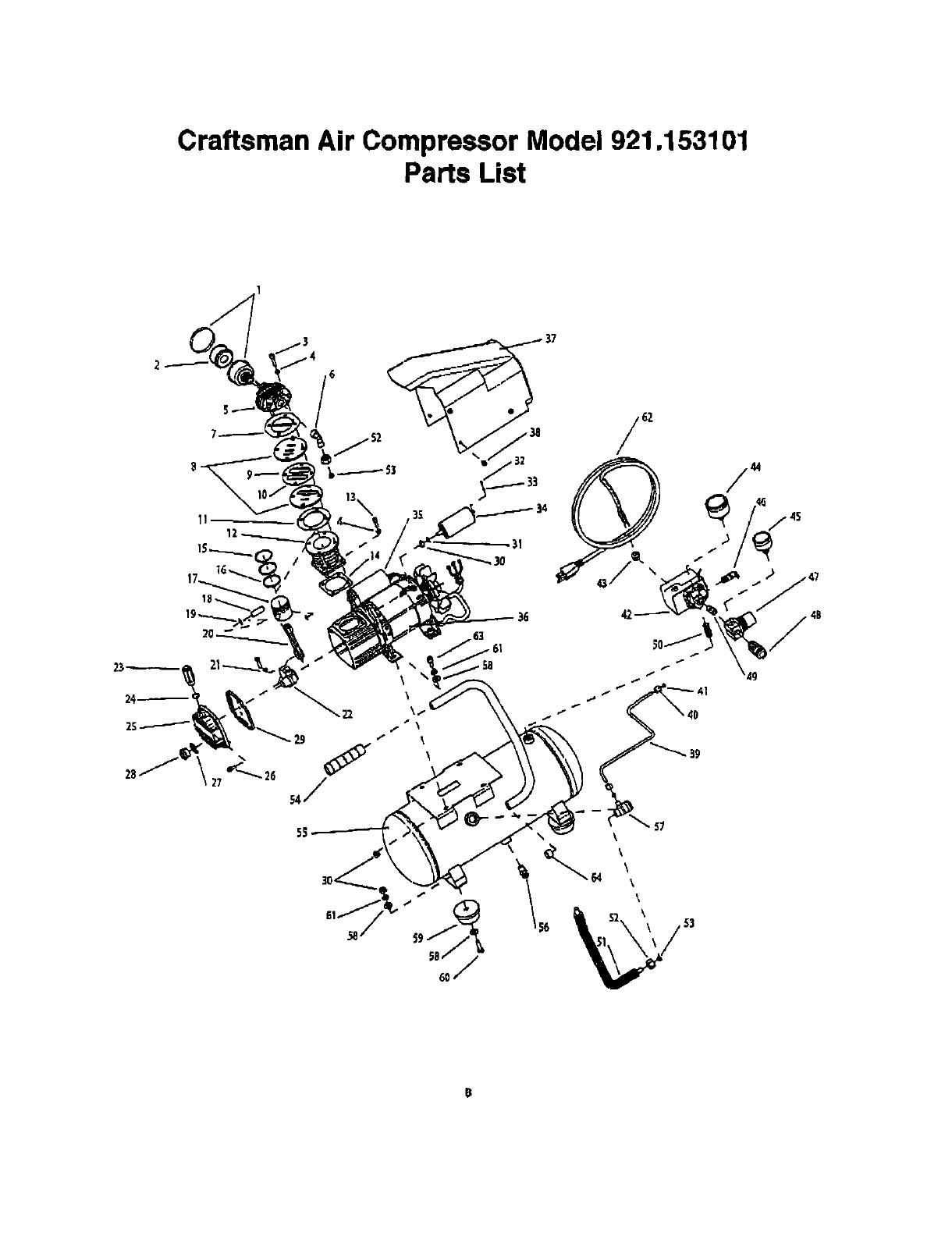 Craftsman 921153101 User Manual AIR COMPRESSOR Manuals And