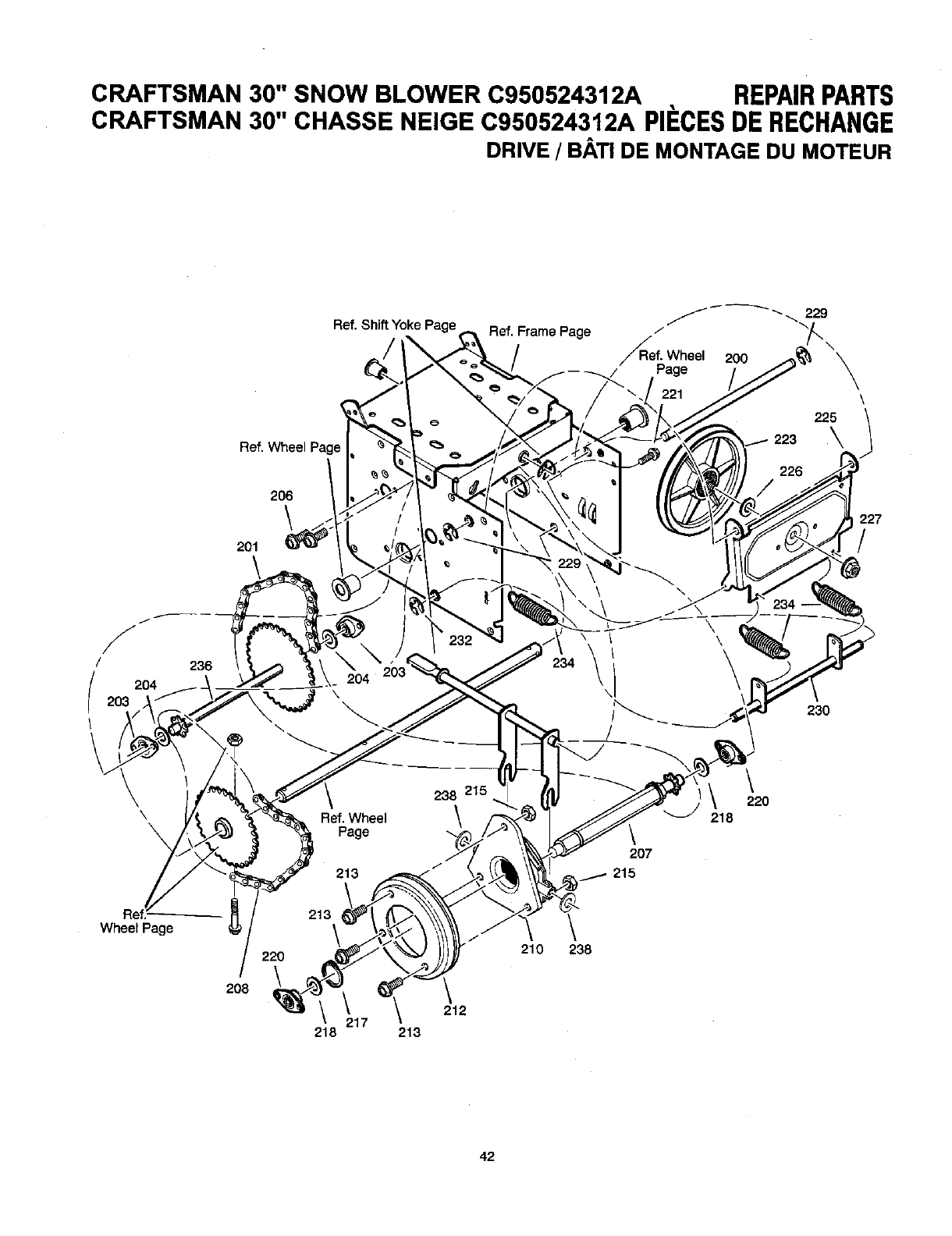 Craftsman C950524312A User Manual DUAL STAGE SNOW BLOWER