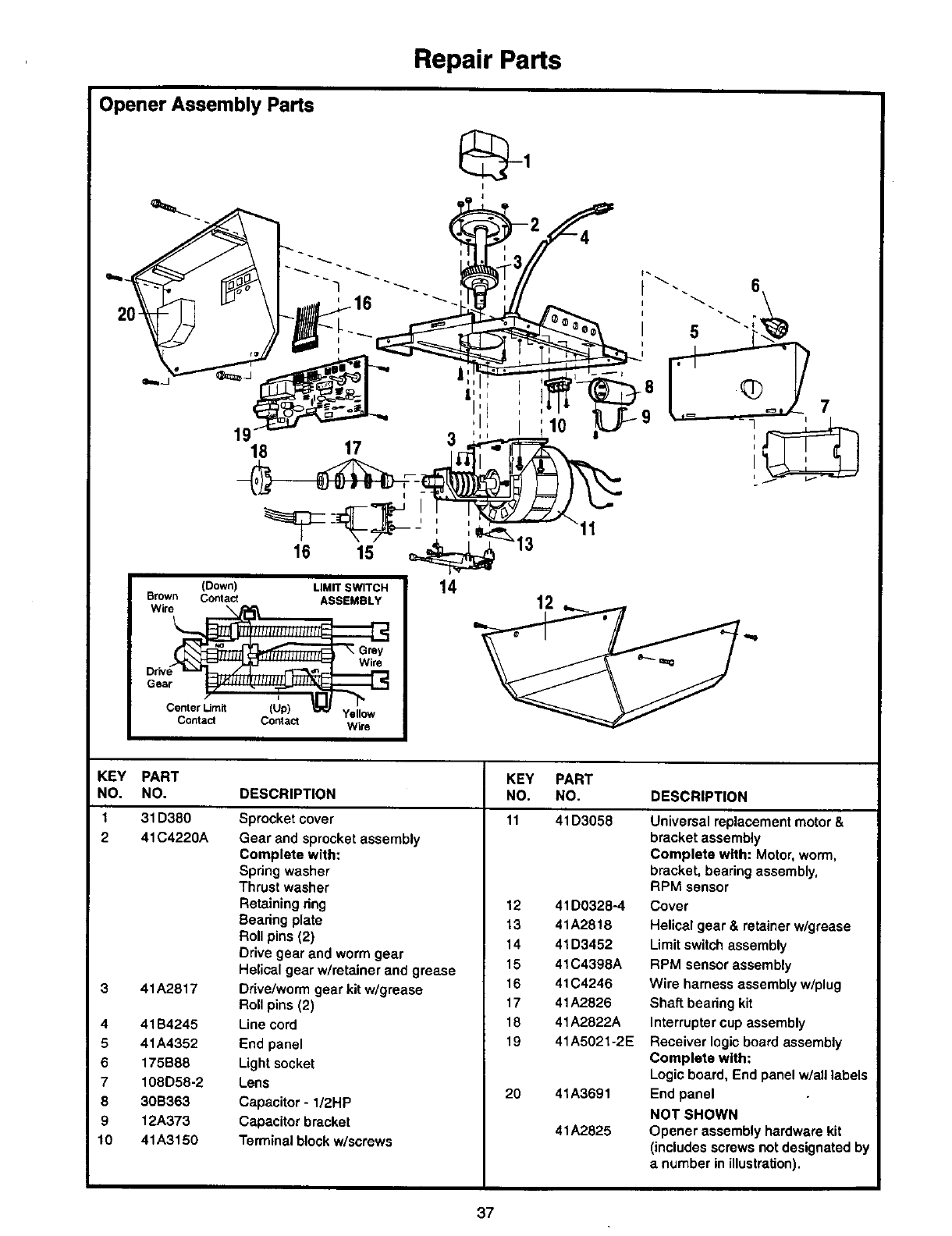 Craftsman 1 2 Hp 139 53978Srt Users Manual