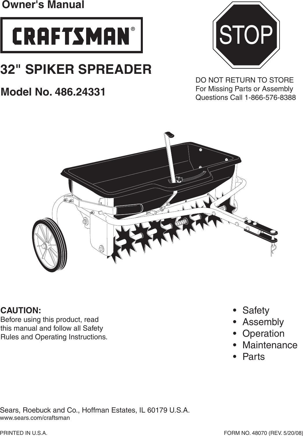 Craftsman 32 In Spread Width Aerator Spreader Combo 100 Lb