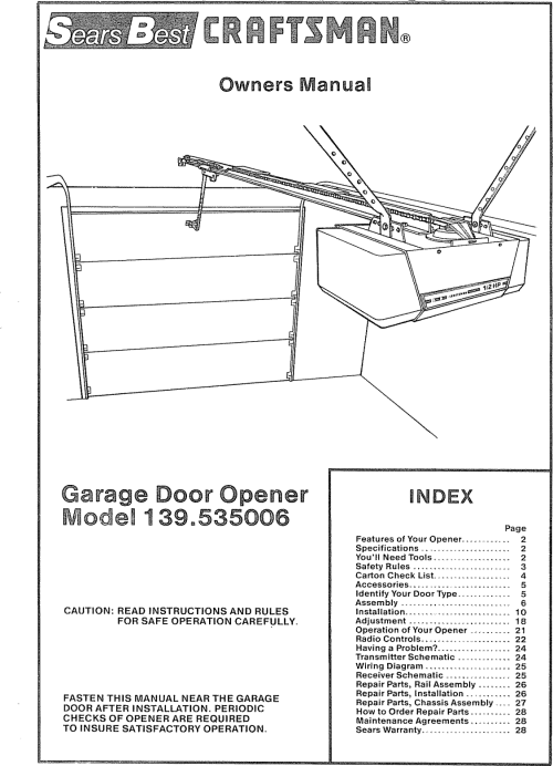 small resolution of sear garage door opener wiring diagram