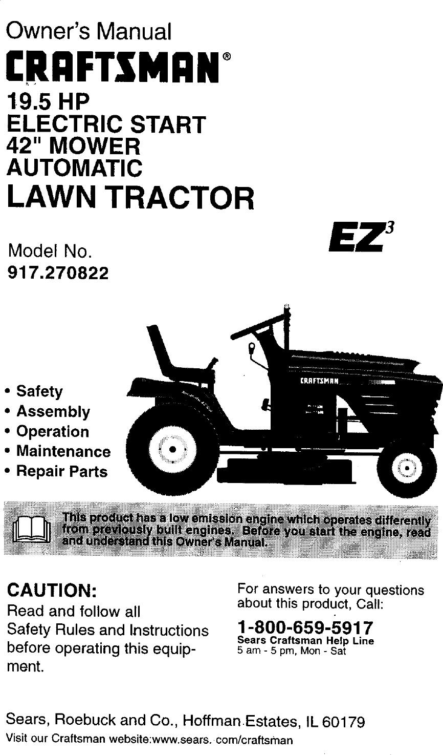 Craftsman 917 270822 Users Manual