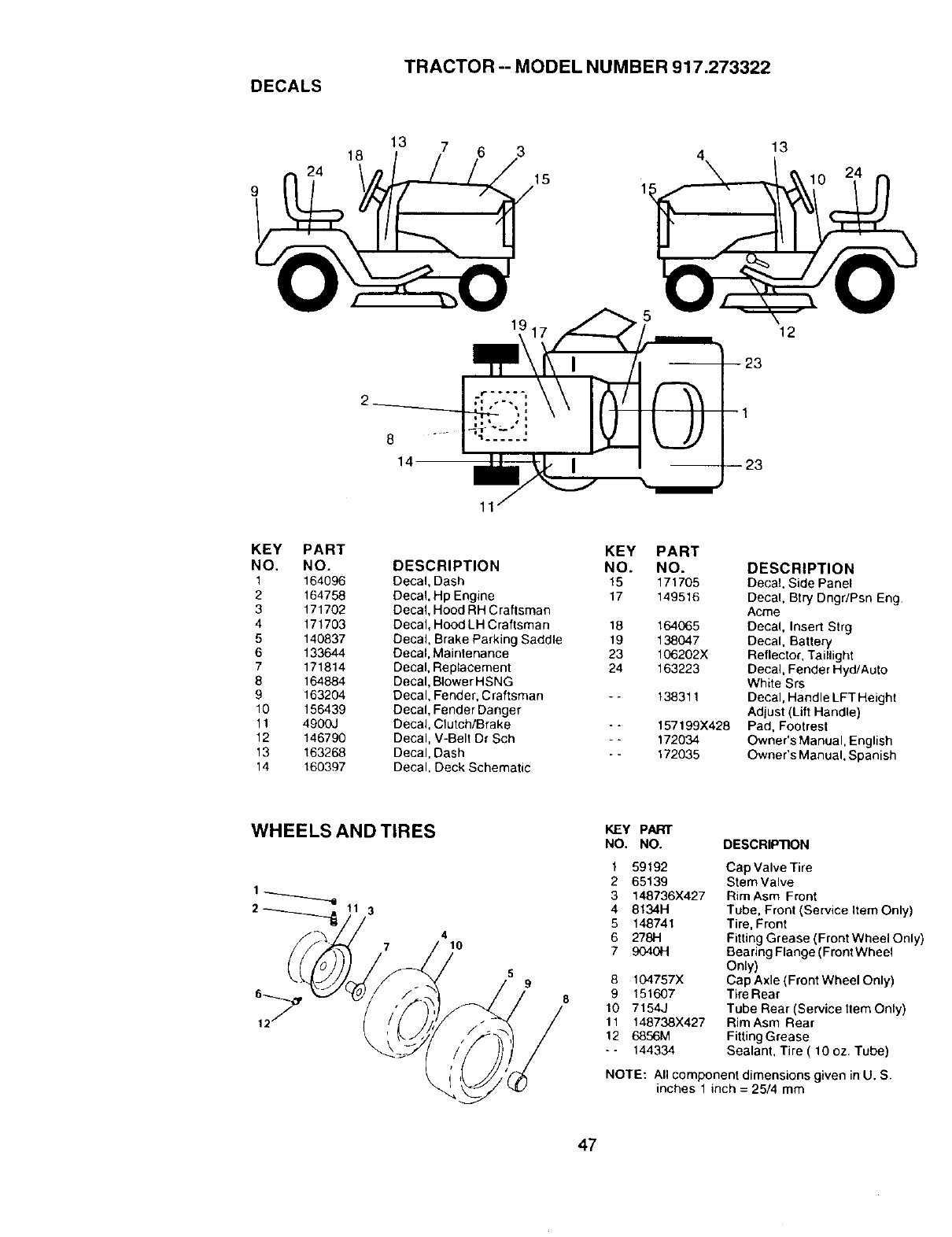 Craftsman 917 273322 Users Manual