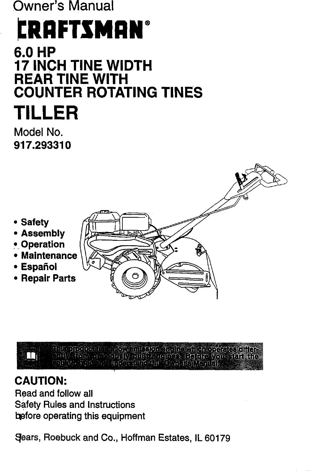 Craftsman 917 29331 Owners Manual ManualsLib Makes It Easy
