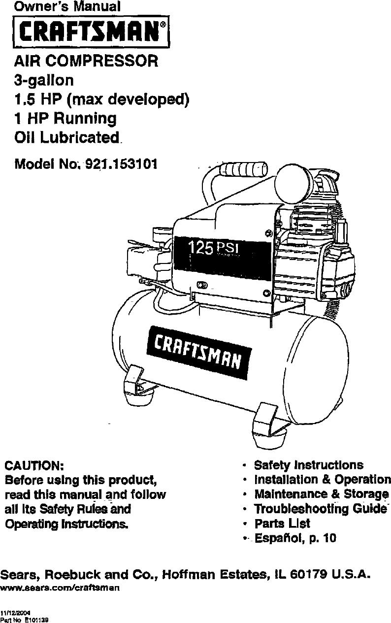 Craftsman 921 153101 Owners Manual ManualsLib Makes It