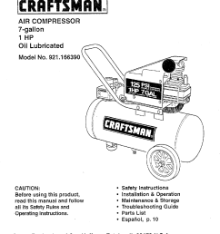 craftsman 921 16639 owners manual on sears 5 hp electric compressor wiring sears air compressor  [ 1182 x 1524 Pixel ]