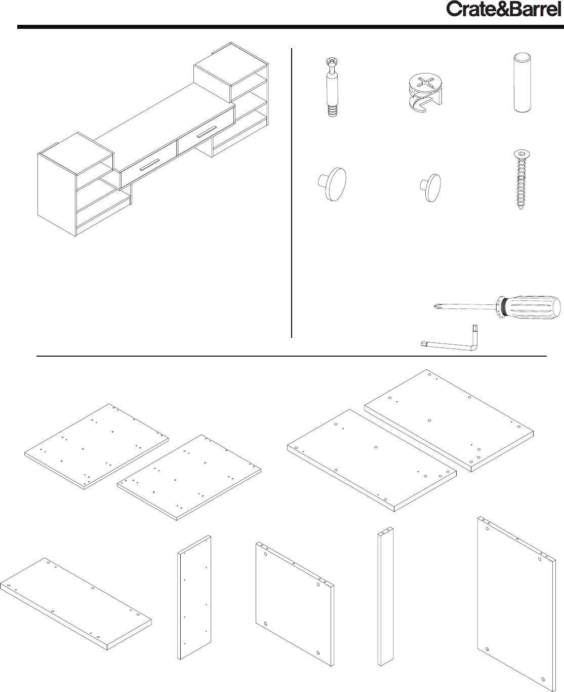 Crate Barrel 837 Puzzle Entertainment Center Assembly