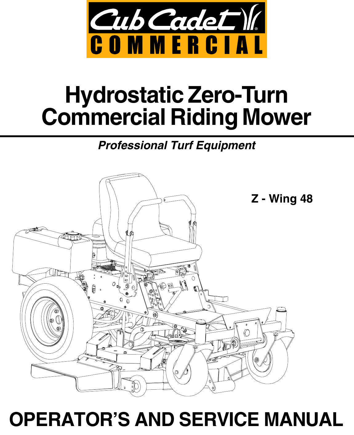 Cub Cadet Z Wing 48 Service Manual 02000822