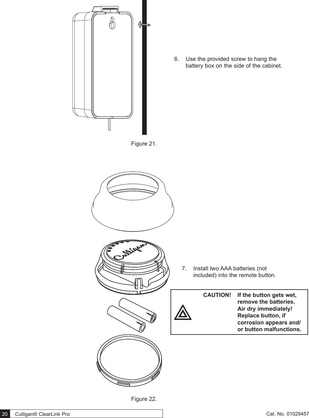 Culligan 010330CL Wireless Filtration Control User Manual