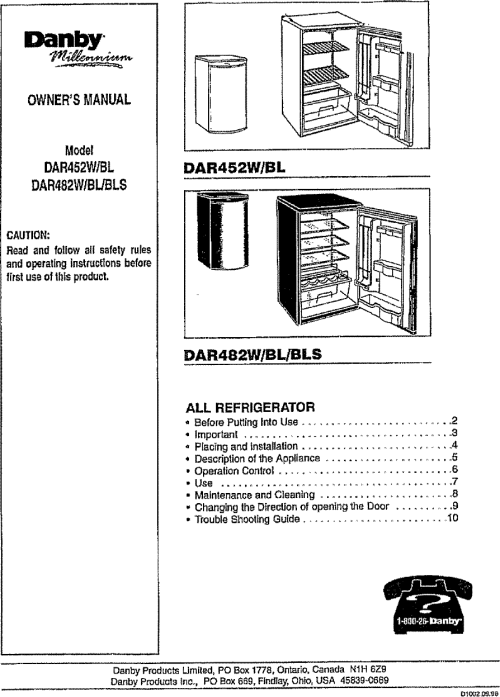 small resolution of danby dar452bl user manual refrigerator manuals and guides l0712249danby wiring diagram 19