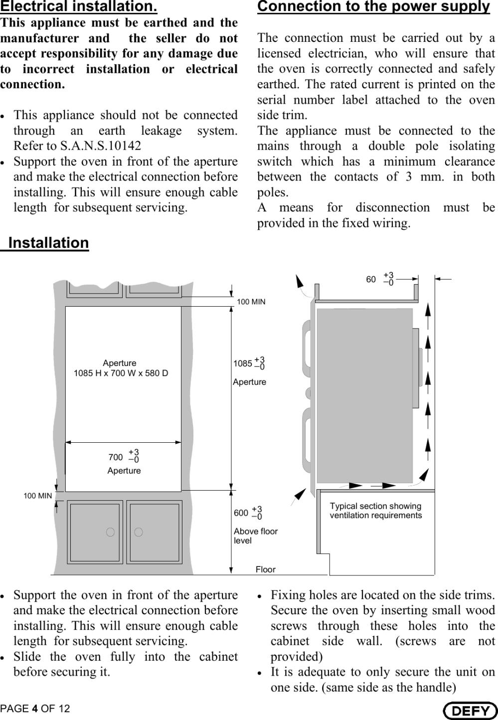 medium resolution of defy gemini gourmet double oven wiring diagram solutions