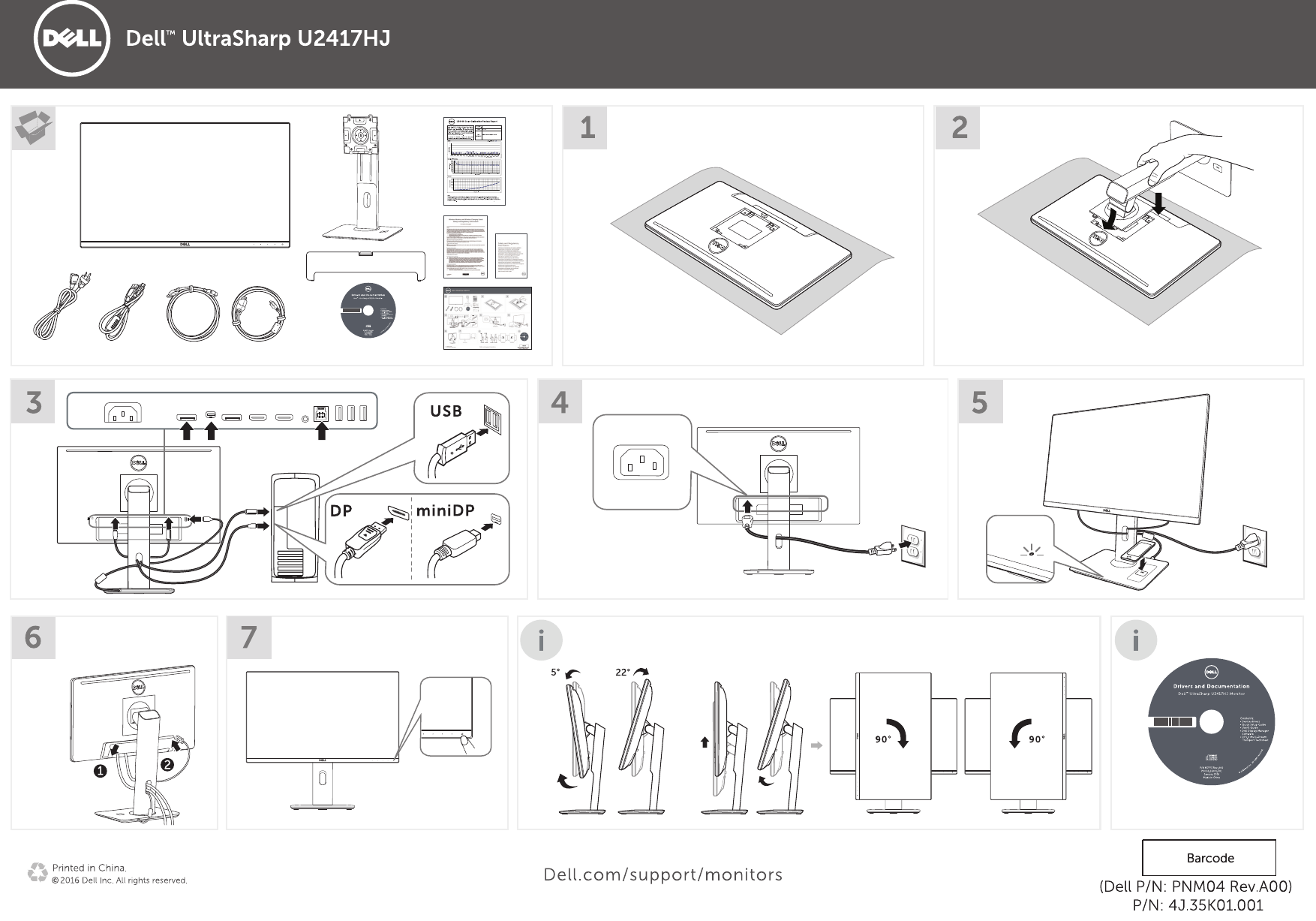 Dell u2417hj monitor クイックセットアップガイド User Manual その他の文書