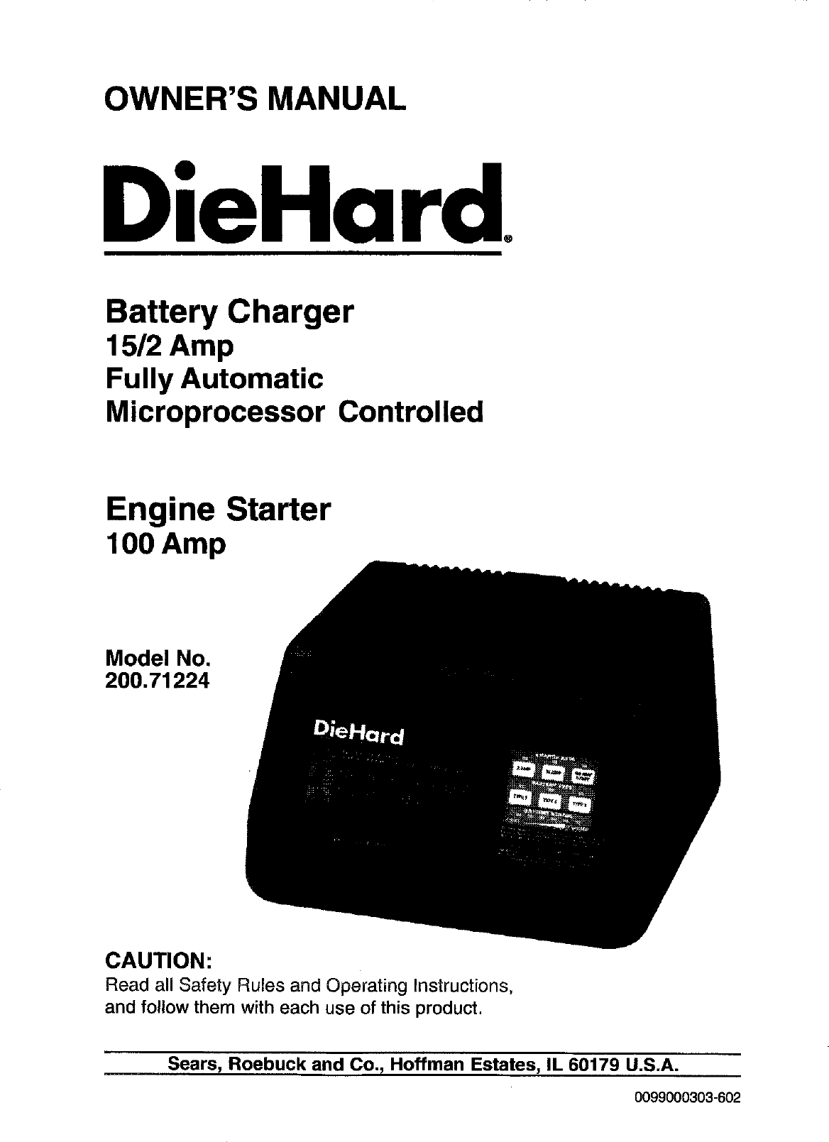 Diehard 20071224 User Manual BATTERY CHARGER Manuals And