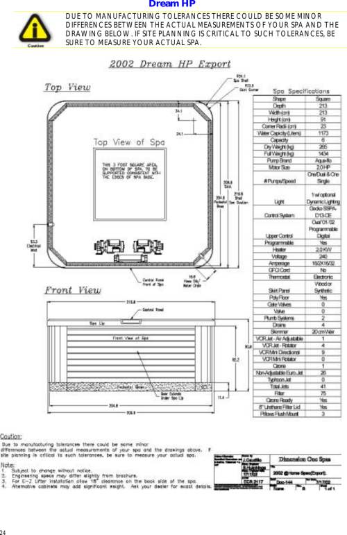 small resolution of dimension one spas home hot tubs users manual d1 home export planning guide install
