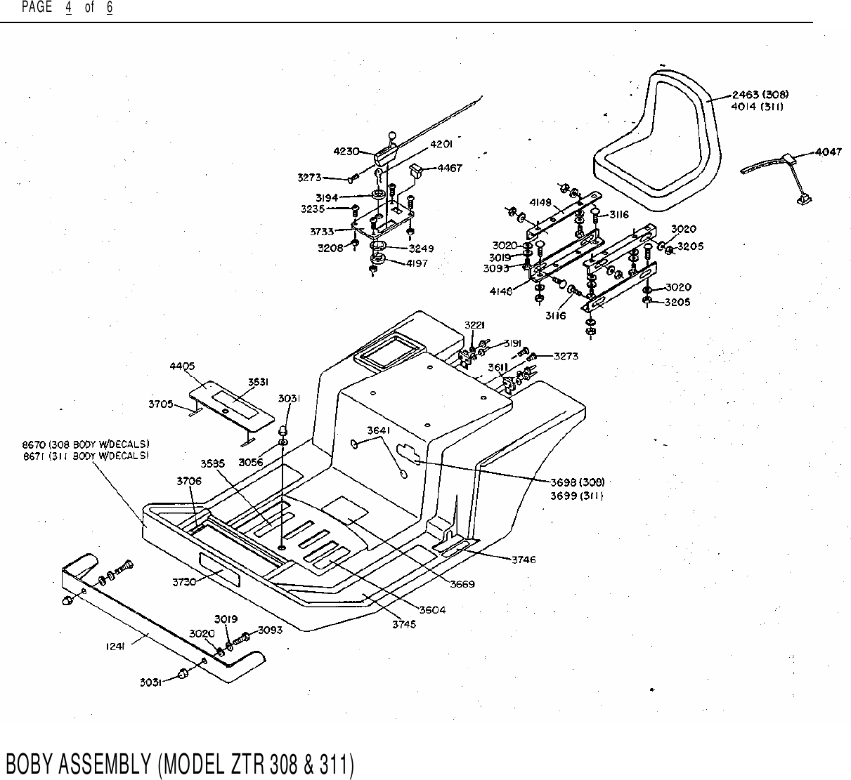 Dixon Ztr 308 Users Manual 1986 1987 Technical Data