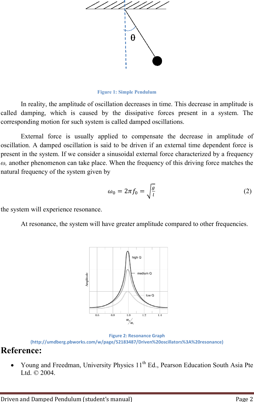 hight resolution of page 2 of 10 01 driven and damped pendulum experiment manual