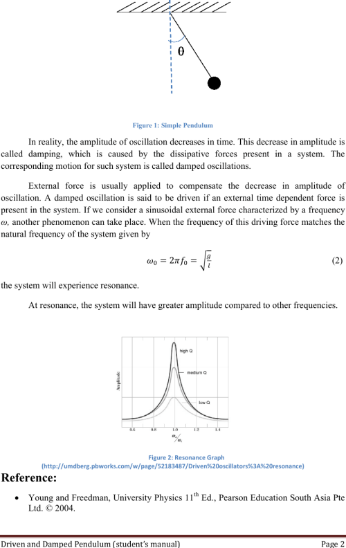 small resolution of page 2 of 10 01 driven and damped pendulum experiment manual