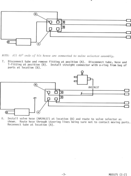 small resolution of page 3 of 4 flow diverter kit 318 installation am39609 m85575 installation