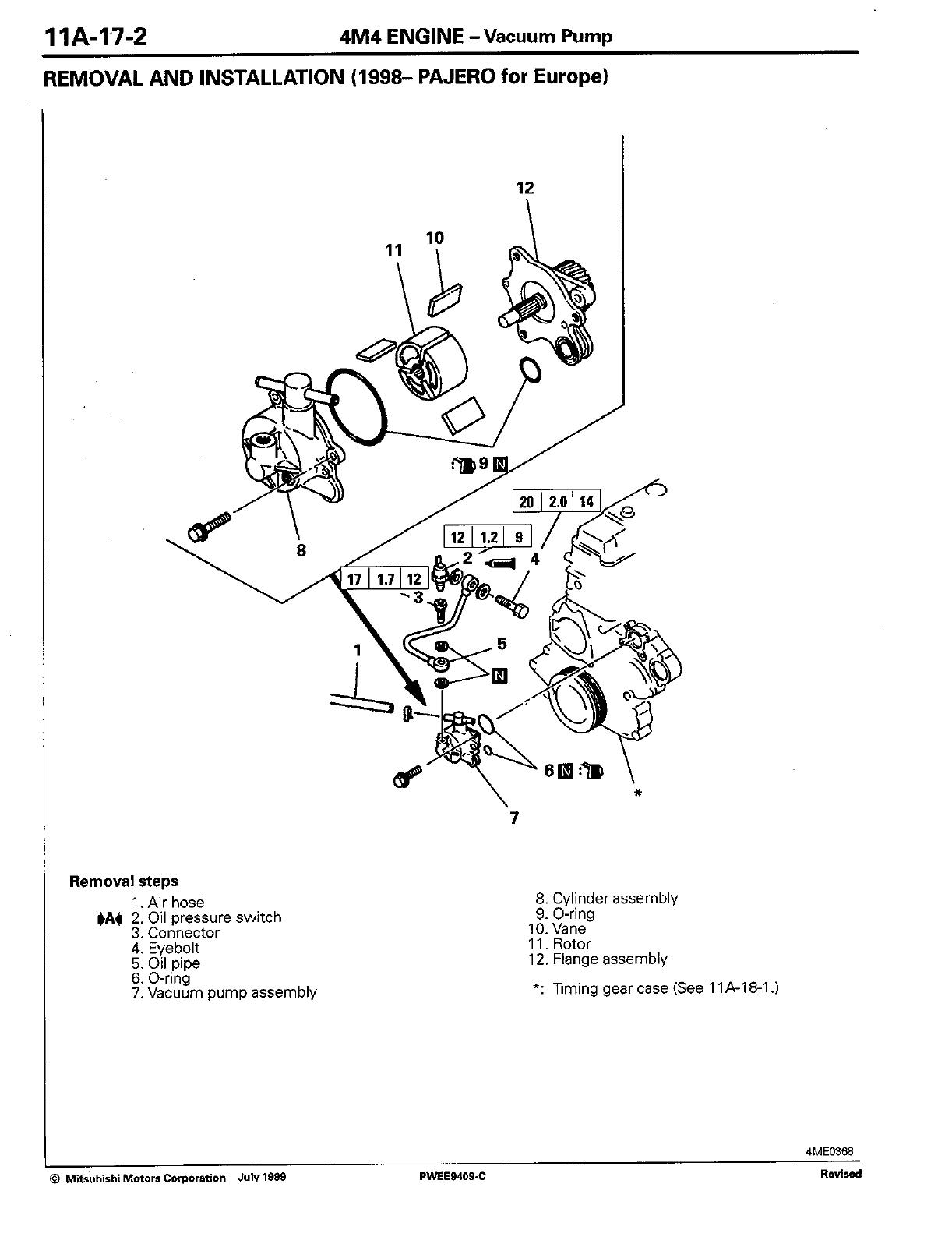 ENGINE Workshop Manual 4M4 (W E) 4M40