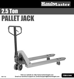 page 1 of 12 manual for the 61946 2 5 ton pallet jack [ 1110 x 1620 Pixel ]