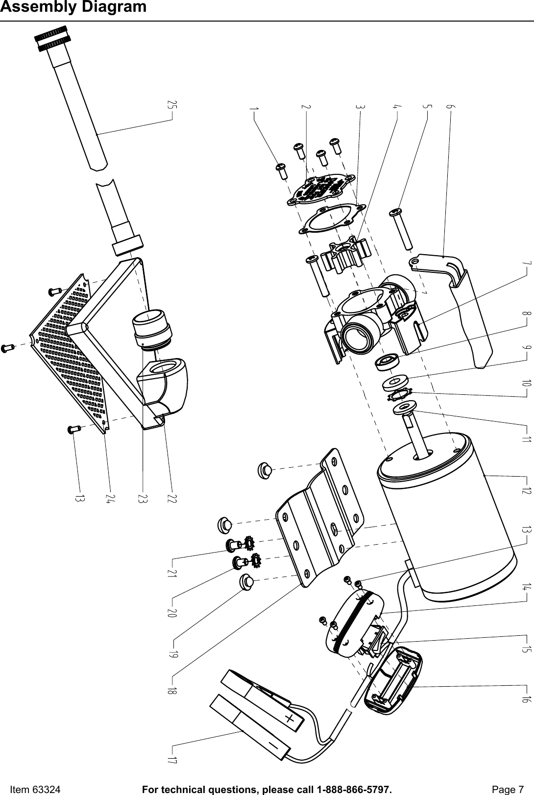 Manual For The 63324 12 Volt DC Transfer Pump