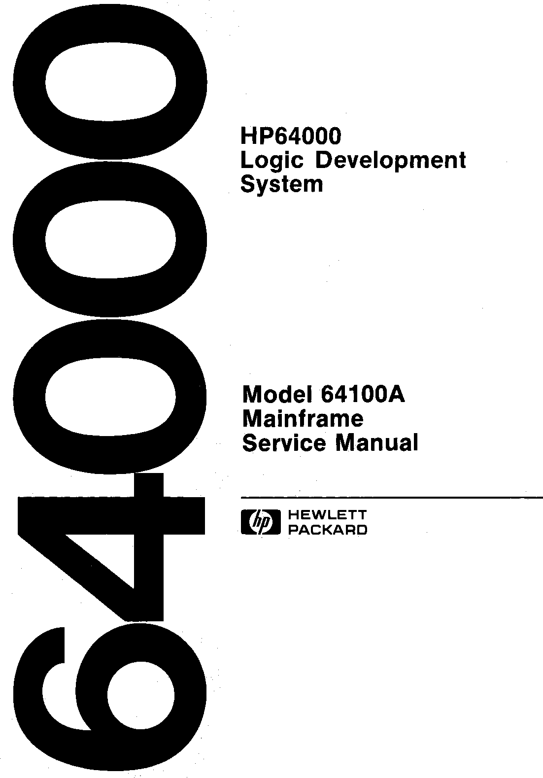 64100 90910__64100A_Mainframe_Service_Manual_Dec83 90910