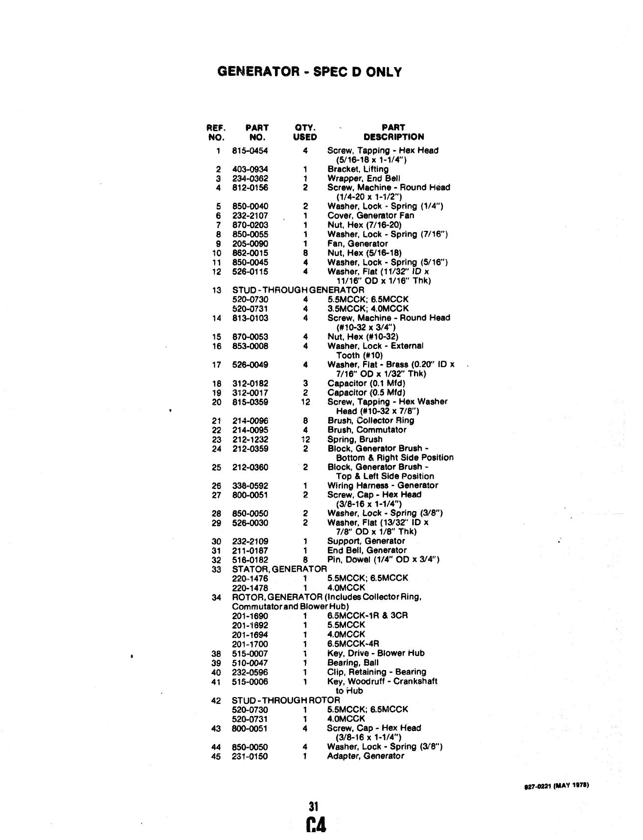 Vdv9324.tmp 927 0221 Onan MCCK Marine Genset Parts Manual